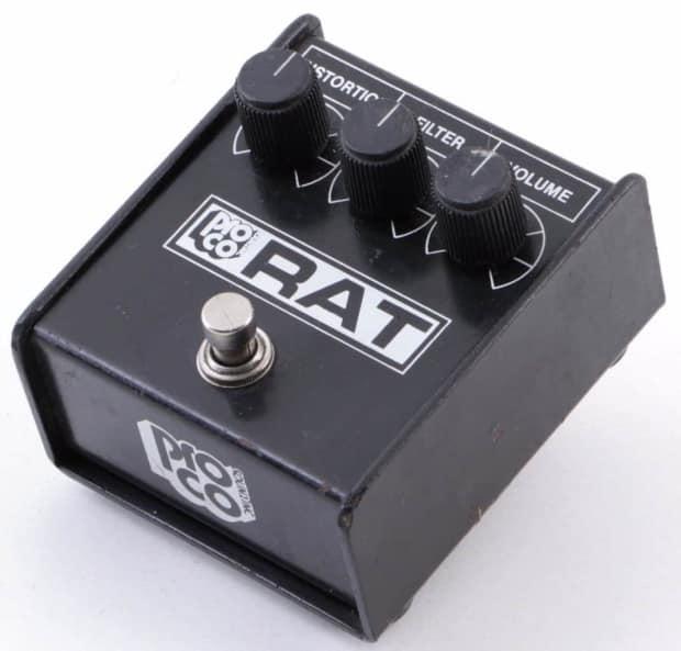 vintage proco white face rat distortion guitar effects pedal reverb. Black Bedroom Furniture Sets. Home Design Ideas