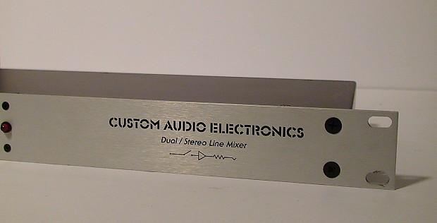 used custom audio electronics cae dual stereo line mixer reverb. Black Bedroom Furniture Sets. Home Design Ideas