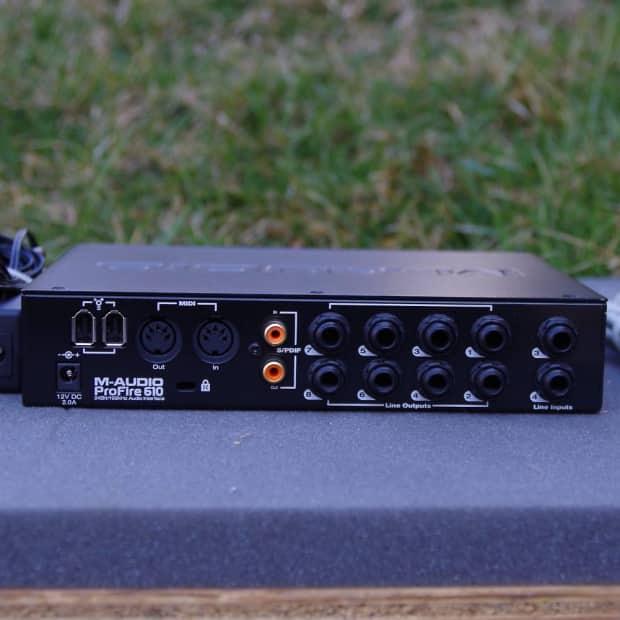 m audio profire 610 firewire audio interface reverb. Black Bedroom Furniture Sets. Home Design Ideas