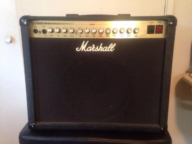 marshall jcm 600 tube guitar amp combo amplifier w 12 reverb. Black Bedroom Furniture Sets. Home Design Ideas