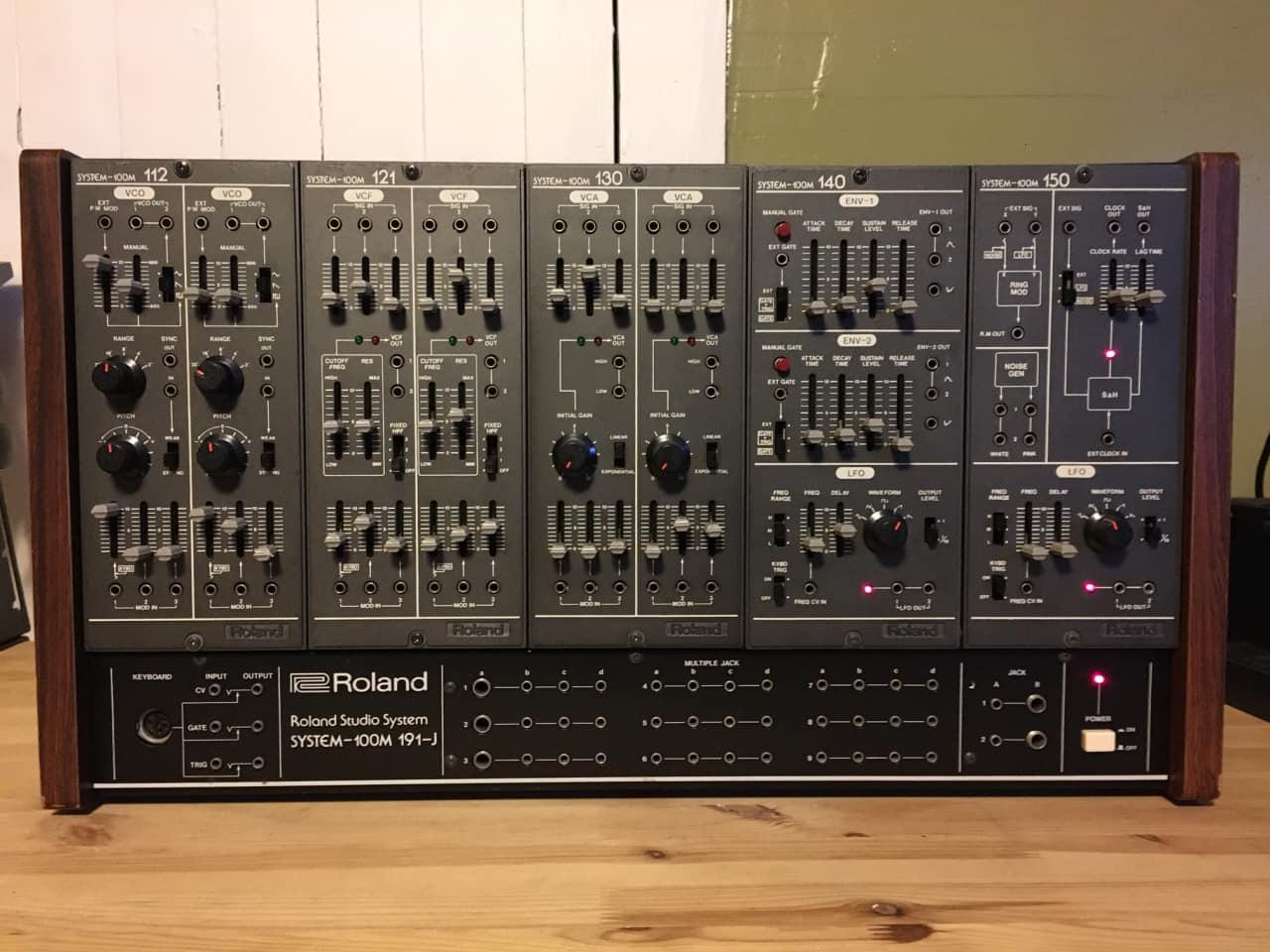 very rare roland system 100m vintage modular synthesizer reverb. Black Bedroom Furniture Sets. Home Design Ideas