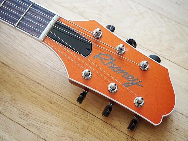 Rhoney Oceana Duo Tone Electric Guitar Metallic Orange W
