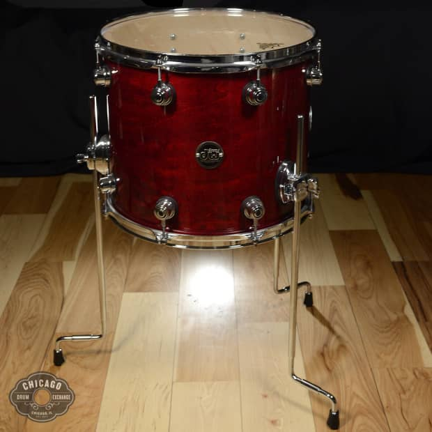 dw 14x12 design series floor tom cherry stain reverb