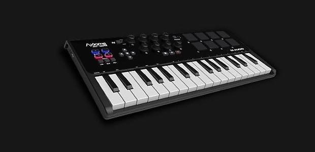 new avid m audio axiom air mini 32 32 key pad midi keyboard reverb. Black Bedroom Furniture Sets. Home Design Ideas