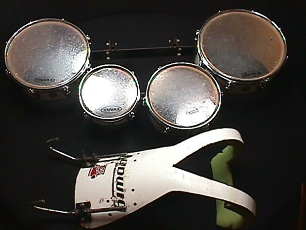 ludwig tenor quads 4 tom tom drums for marching band with reverb. Black Bedroom Furniture Sets. Home Design Ideas