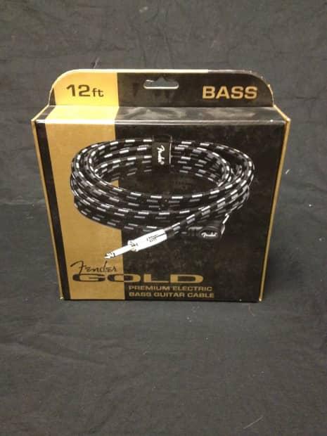 fender premium gold electric bass cable reverb. Black Bedroom Furniture Sets. Home Design Ideas