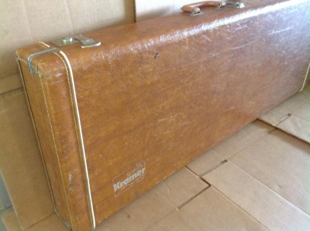 kramer bass guitar hard case 70s brown tan reverb. Black Bedroom Furniture Sets. Home Design Ideas