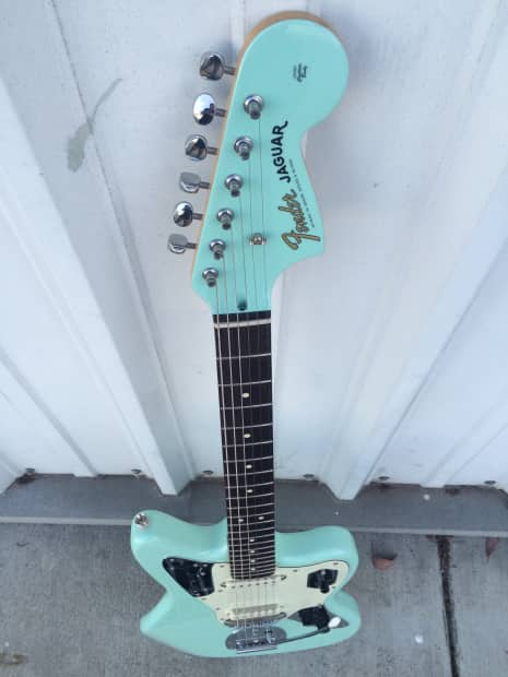 Fender Squier Jaguar 2012 Sea Foam Green Reverb