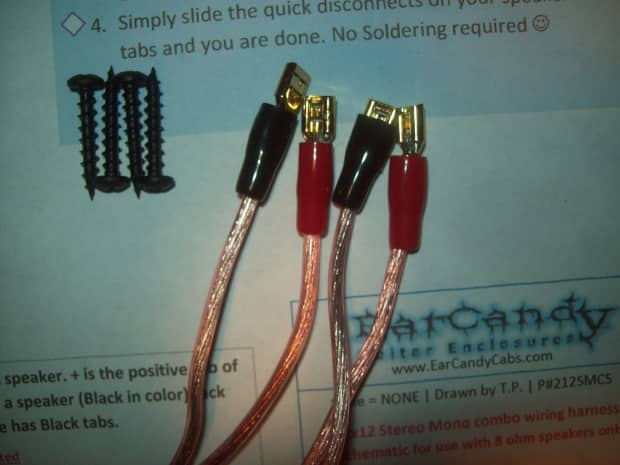 earcandy 2x12 2x10 guitar amp speaker cab wiring harness