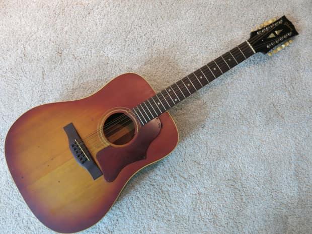 vintage 1969 gibson b45 12 string acoustic guitar tobacco reverb. Black Bedroom Furniture Sets. Home Design Ideas