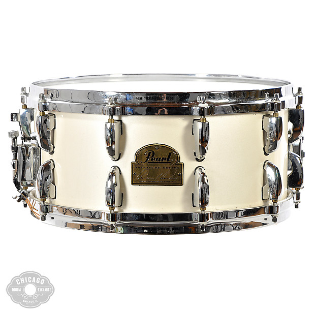 Pearl 6.5x14 Dennis Chambers Signature Snare Drum - Used ...