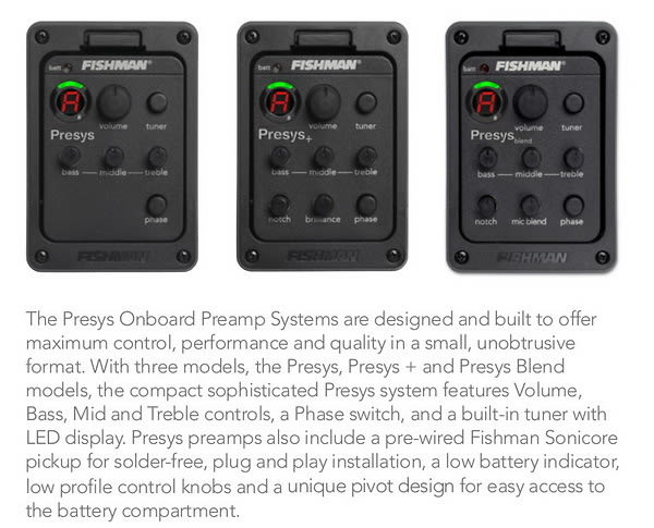 fishman presys eq preamp system for acoustic guitar reverb. Black Bedroom Furniture Sets. Home Design Ideas