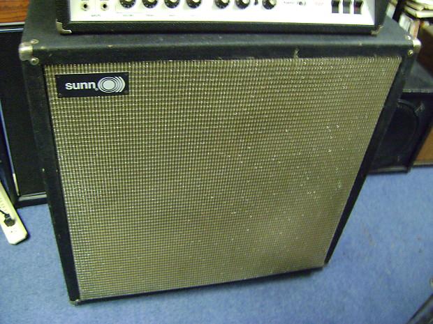 sunn 4 12 speaker cabinet for guitar 1971 black reverb. Black Bedroom Furniture Sets. Home Design Ideas