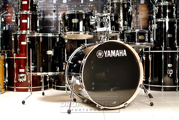 Yamaha stage custom birch 5pc drum set raven black reverb for Yamaha stage custom steel snare drum 14x6 5
