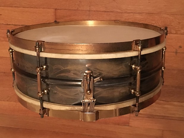 ludwig deluxe black beauty snare drum 5x14 rare vintage reverb. Black Bedroom Furniture Sets. Home Design Ideas