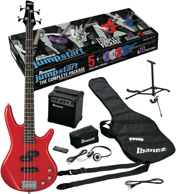 ibanez electric bass guitar gig bag amp tuner ijxb pack red reverb. Black Bedroom Furniture Sets. Home Design Ideas