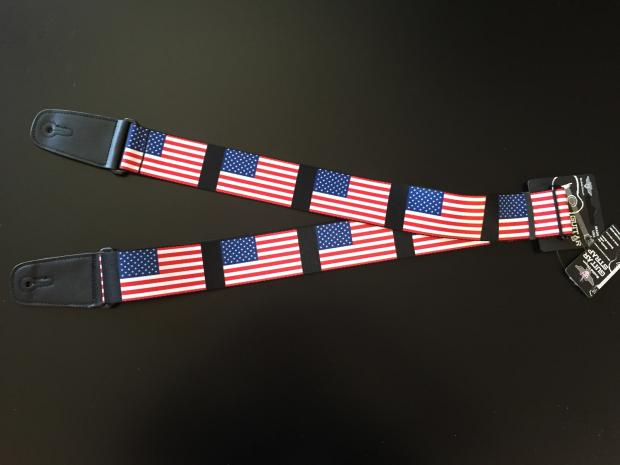 american flag guitar strap reverb. Black Bedroom Furniture Sets. Home Design Ideas