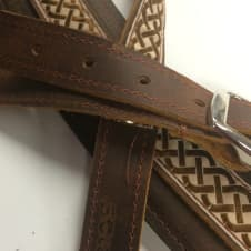 """Souldier """"Celtic Knot"""" Leather Saddle Guitar Strap *Free Shipping* image"""