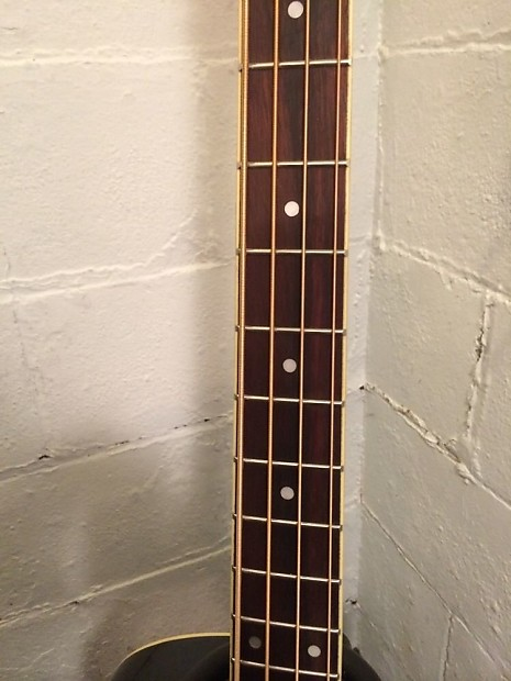 ibanez aeb5e black acoustic electric bass guitar built in reverb. Black Bedroom Furniture Sets. Home Design Ideas