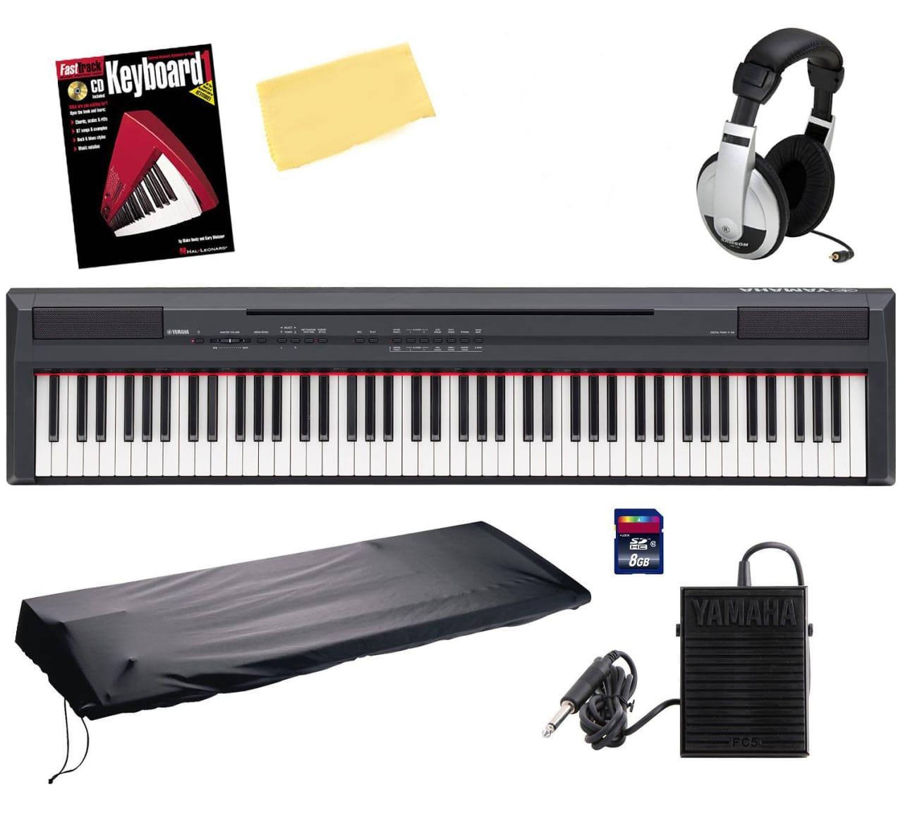 Yamaha p105b 88 key digital piano bundle with 8gb sd card for Yamaha p105 digital piano bundle