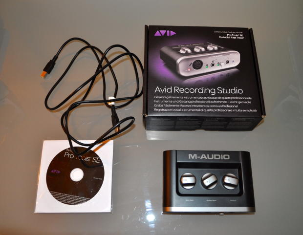 m audio fast track ii avid usb recording studio interface with protools se reverb. Black Bedroom Furniture Sets. Home Design Ideas