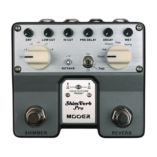 New Just Released MOOER SHIMVERB PRO Digital Stereo Reverb Guitar Effect Pedal