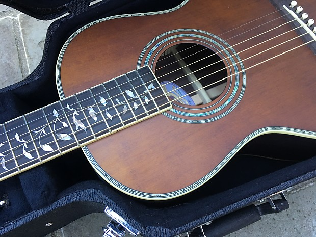 Washburn R320SWRK Vintage Series Parlor Acoustic Guitar ...