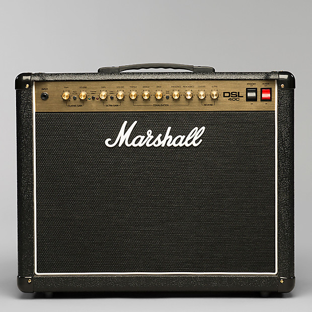marshall dsl40c guitar combo amplifier 40 watts 1x12 inch reverb. Black Bedroom Furniture Sets. Home Design Ideas