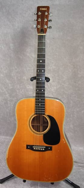 tama 3553 acoustic guitar mij made in japan with hardshell reverb. Black Bedroom Furniture Sets. Home Design Ideas