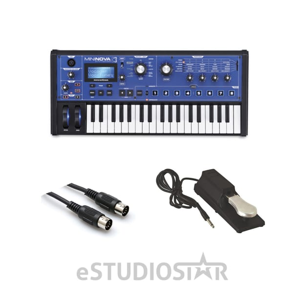 novation mininova 37 mini key compact synthesizer w mid 310bk reverb. Black Bedroom Furniture Sets. Home Design Ideas