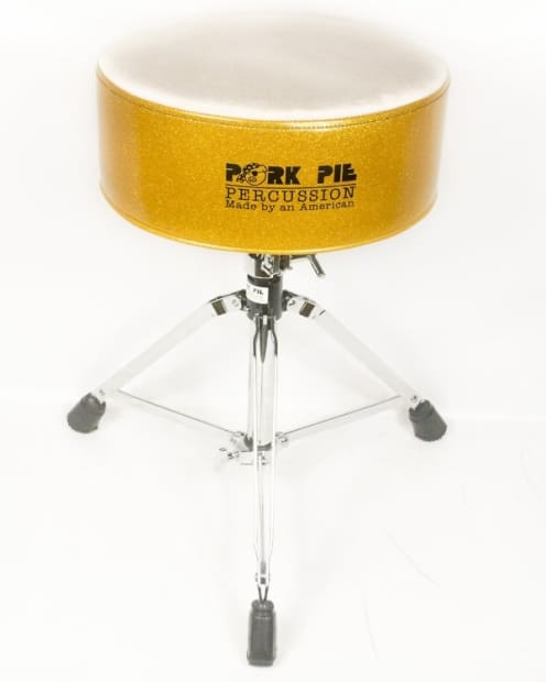pork pie round throne standard base gold sparkle sides reverb. Black Bedroom Furniture Sets. Home Design Ideas