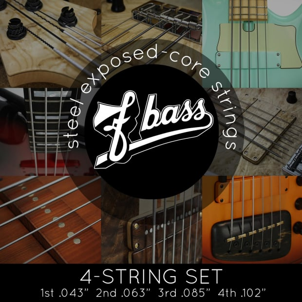 fbass 4 string sets stainless steel exposed core bass strings reverb. Black Bedroom Furniture Sets. Home Design Ideas