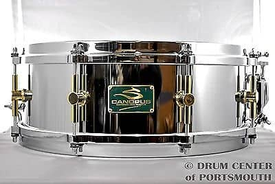 canopus 39 the steel 39 snare drum 14x5 second line reverb. Black Bedroom Furniture Sets. Home Design Ideas