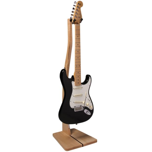 Wooden guitar stand maple zither music company z