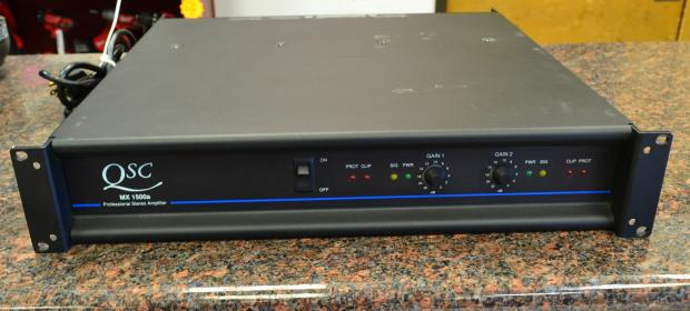 Pawn Shop Austin >> QSC MX1500a Stereo Power Amplifier Amp | Reverb