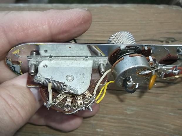 original 1971 fender telecaster plate wiring reverb