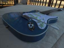 Blue Frog Made in the USA Double Bound Custom Hybrid Tele/Strat 2015 Nitro Lacquer Lake Placid Blue image