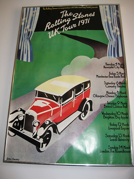 Rolling Stones Official Tour Posters