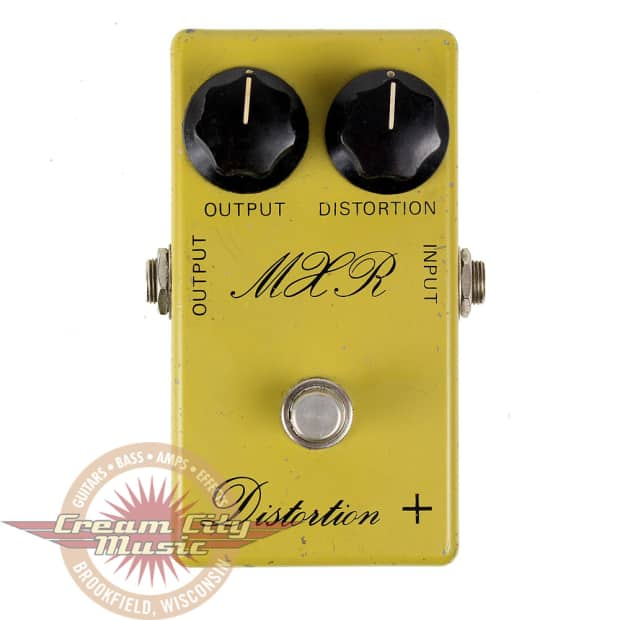 vintage mxr script logo distortion plus guitar pedal reverb