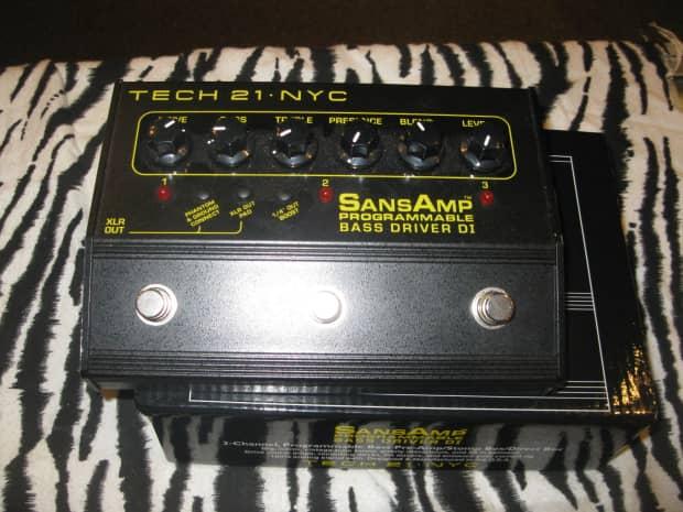 sansamp programmable bass driver di manual