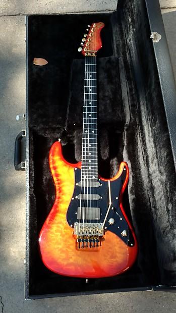 valley arts guitar custom pro 7 8s luke model 1990 fireburst reverb. Black Bedroom Furniture Sets. Home Design Ideas