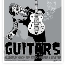 """Normandy Guitars Zombie Poster (22""""X 15"""") image"""