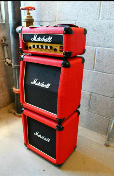 marshall lead 12 mini stack mid 80 39 s red tolex reverb. Black Bedroom Furniture Sets. Home Design Ideas