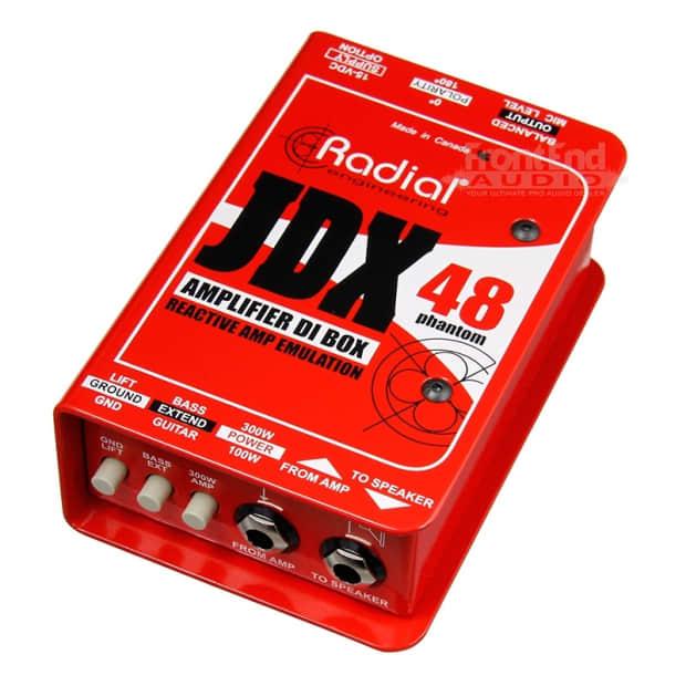 new radial jdx 48 phantom powered guitar amp di w speaker reverb. Black Bedroom Furniture Sets. Home Design Ideas