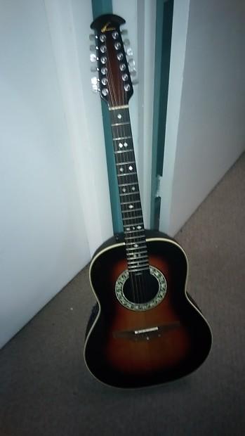 Ovation Custom balladeer 12 string model 1755 1980s 3 ...