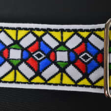 """New! Souldier Strap """"Stained Glass"""" USA Handmade Guitar Strap Free Shipping image"""