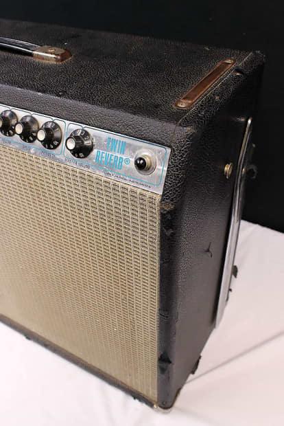vintage 1977 fender twin reverb amp super clean reverb. Black Bedroom Furniture Sets. Home Design Ideas