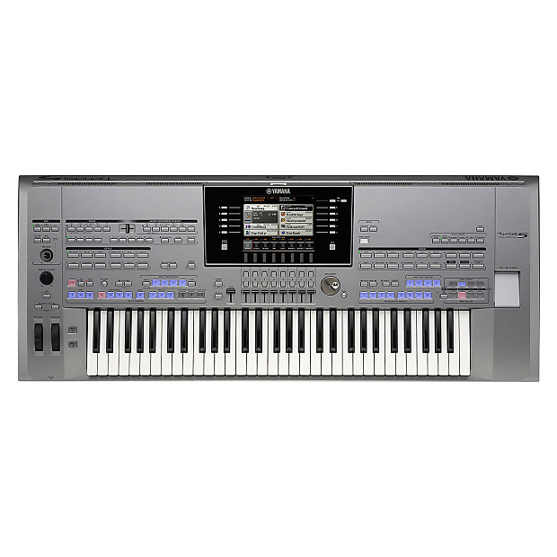 yamaha tyros5 61 digital keyboard workstation used reverb