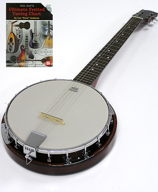 6 string banjo guitar w tuning chart cd free reverb. Black Bedroom Furniture Sets. Home Design Ideas