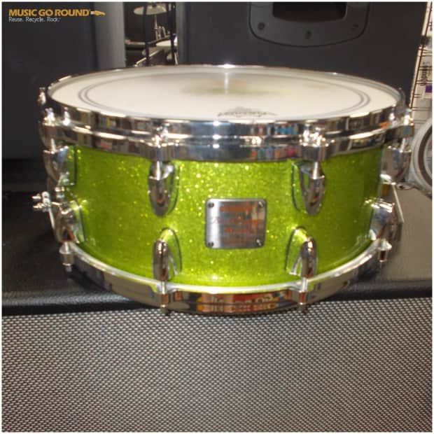 Yamaha birch custom absolute 14x6 snare drum bas1460 white for Yamaha stage custom steel snare drum 14x6 5